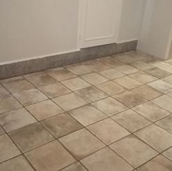 Laying of floor tile